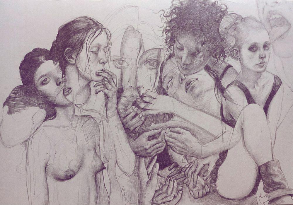 Pencil art hd wallpaper 1000x700