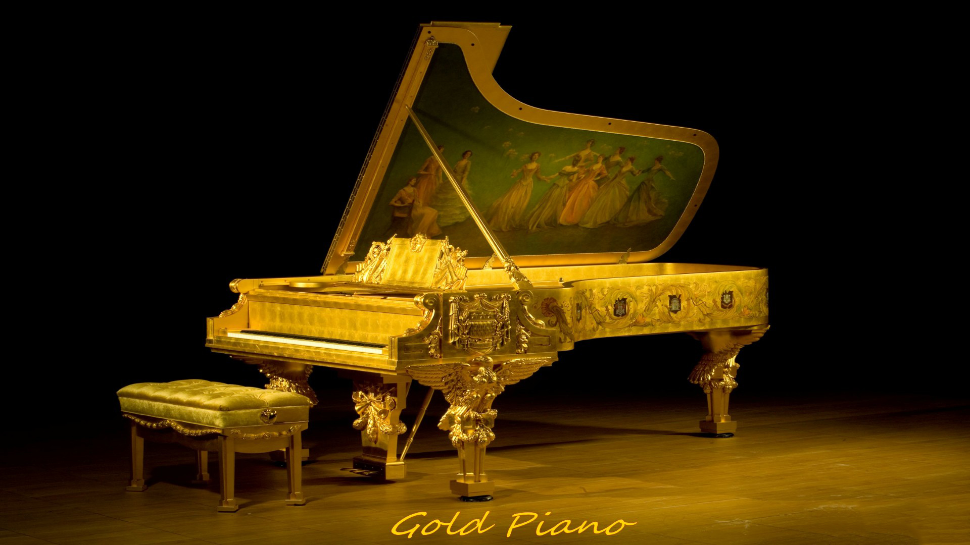HD Piano Wallpaper 1920x1080