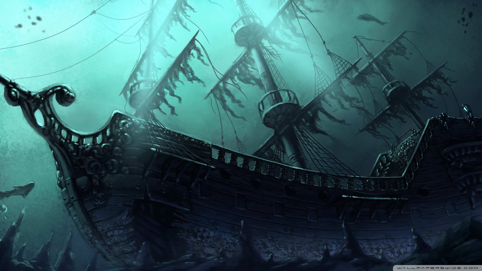 Free Ghost Pirate Ship Wallpapers Hd « Long Wallpapers 1920x1080