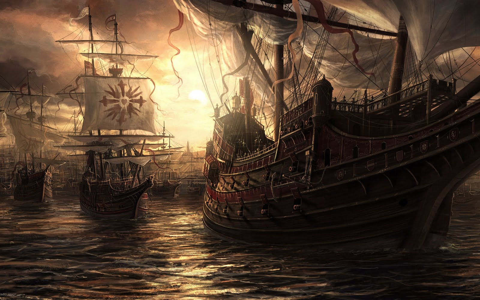 Pirate Ship Wallpapers  Wallpaper  1600x1000