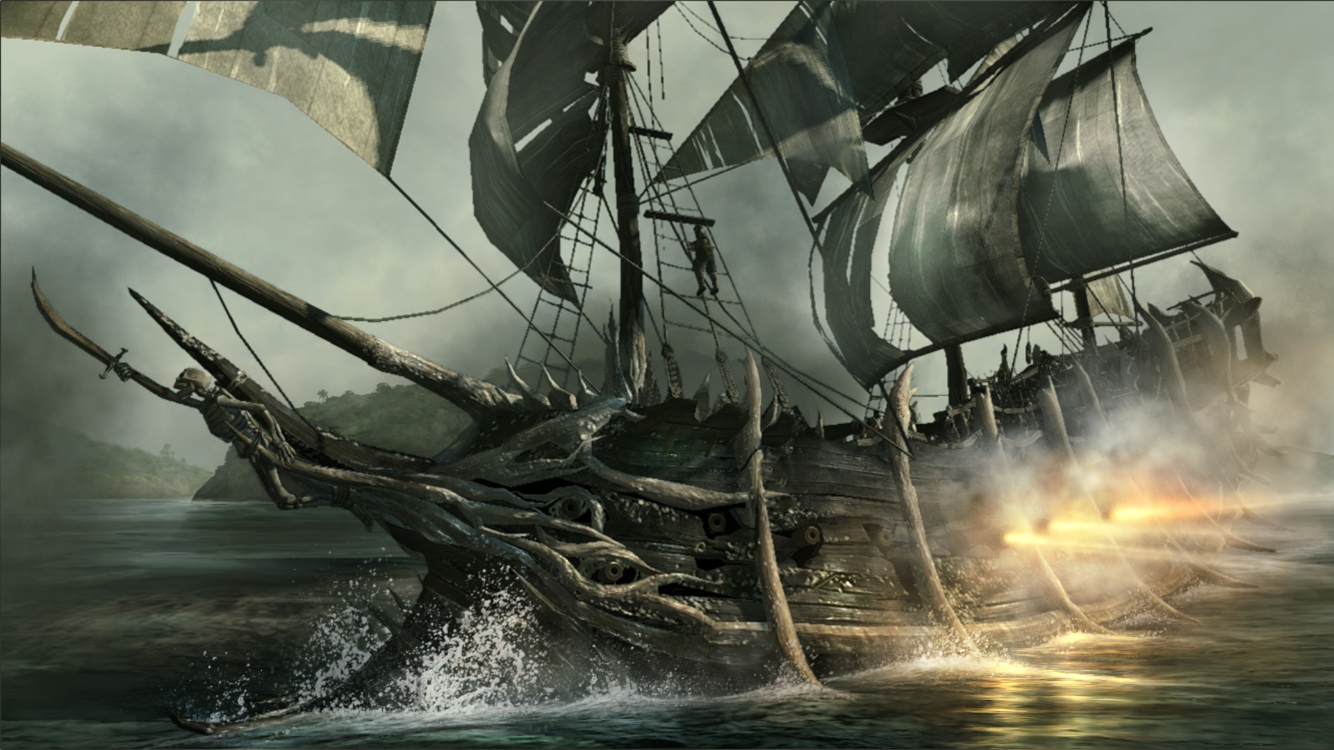 Jolly Roger Pan Pirate Ship Wallpapers  HD Wallpapers 1920x1080