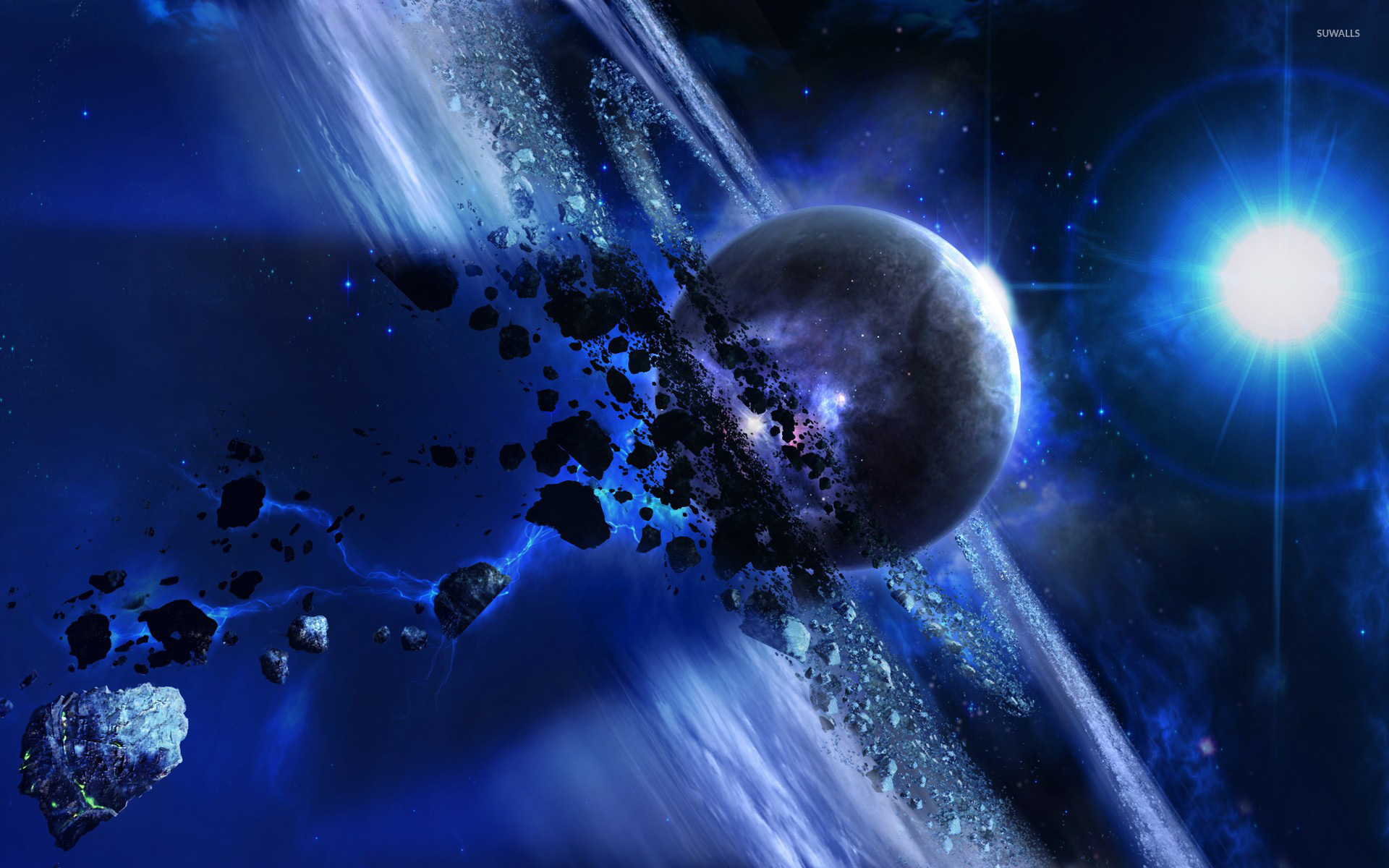 asteroid planet game - HD 1600×1000