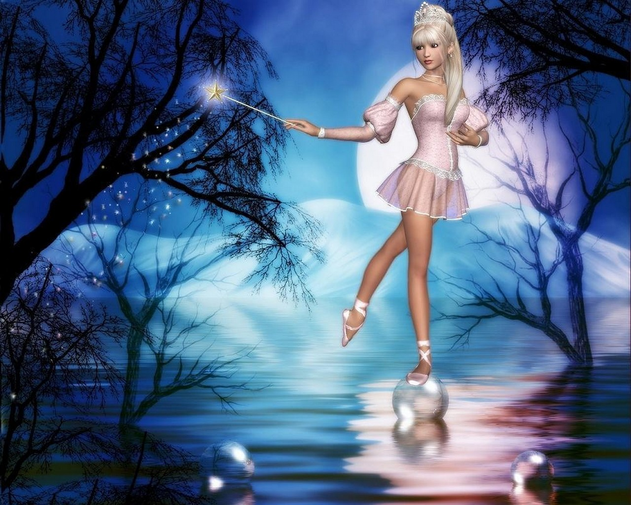 Cool Fairy Backgrounds Group  1280x1024