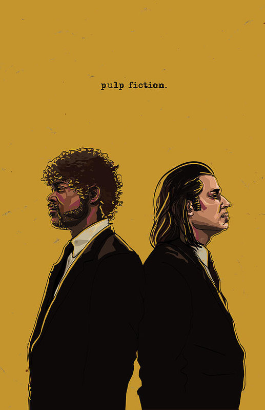 Pulp Fiction Art Print by Jeremy