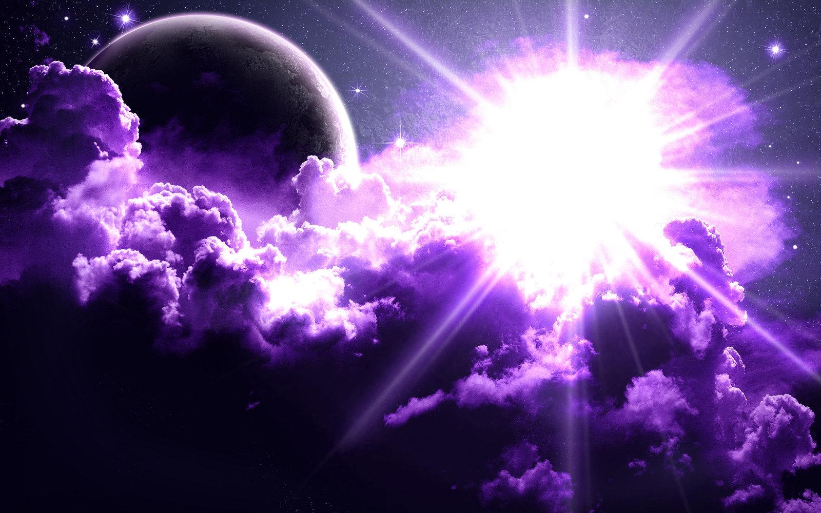 Download Purple Space Wallpaper Gallery 1600x1000