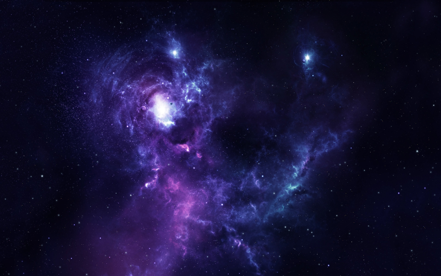 Space Colors Blue Purple Stars HD desktop wallpaper : Widescreen 1680x1050