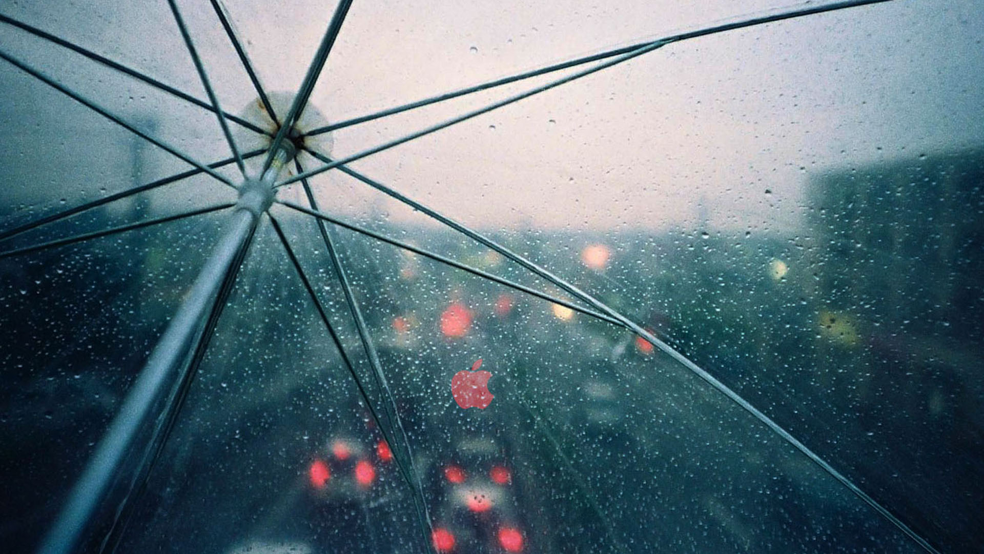 Cool Anime Wallpaper in Rain with Umbrella Rain Drops HD ...