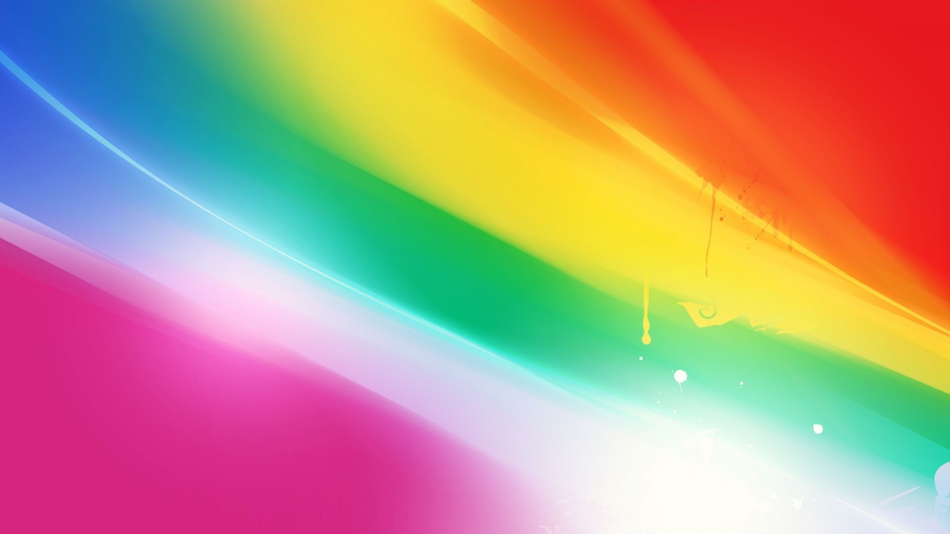 Abstract Colorful Art Twisted Rainbow Wallpaper 1920x1080