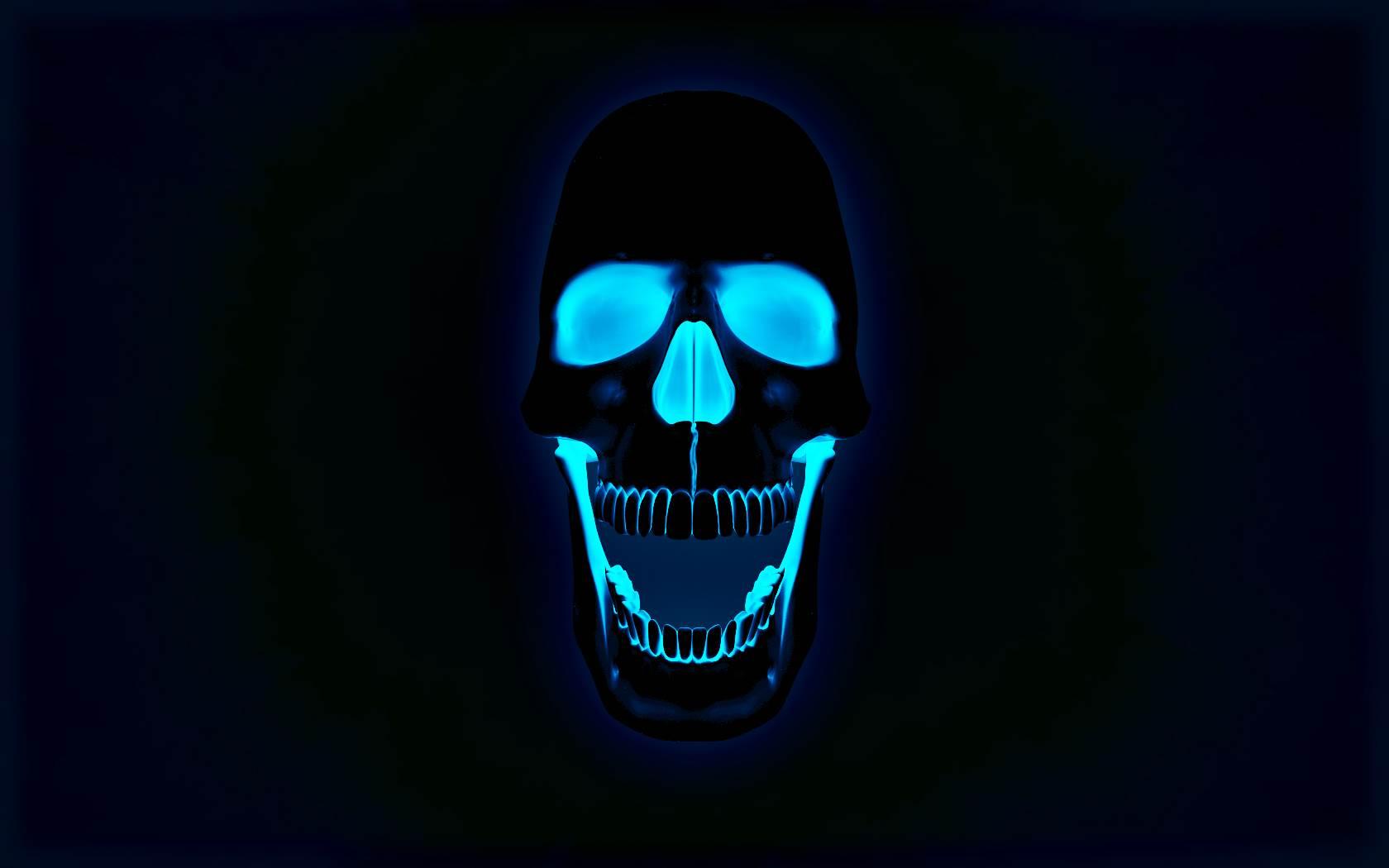 Black Skull Wallpaper 1680x1050