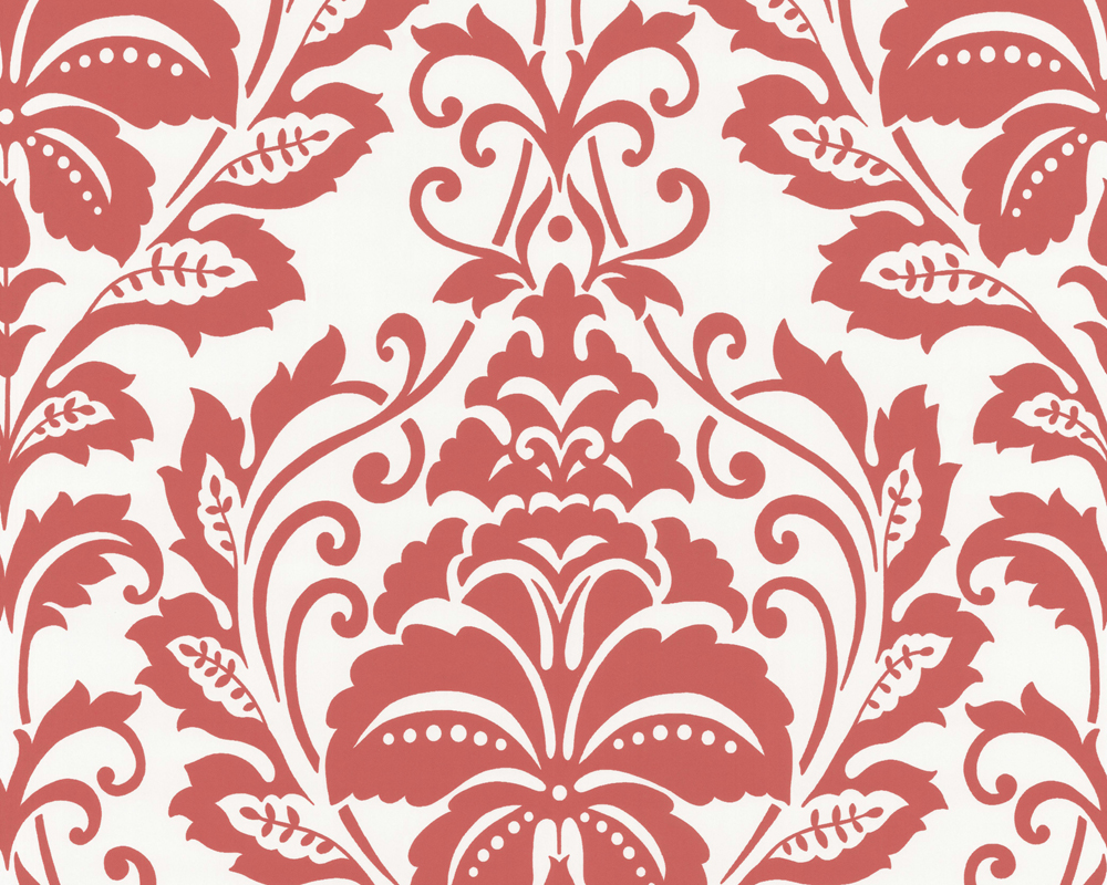 Louis Red Damask Wallpaper  Victorian  Wallpaper  by Brewster 1000x800