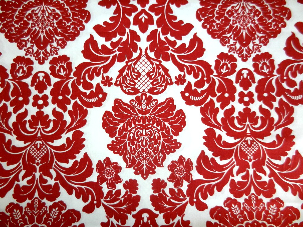 Red damask wallpaper my blog for Damask wallpaper