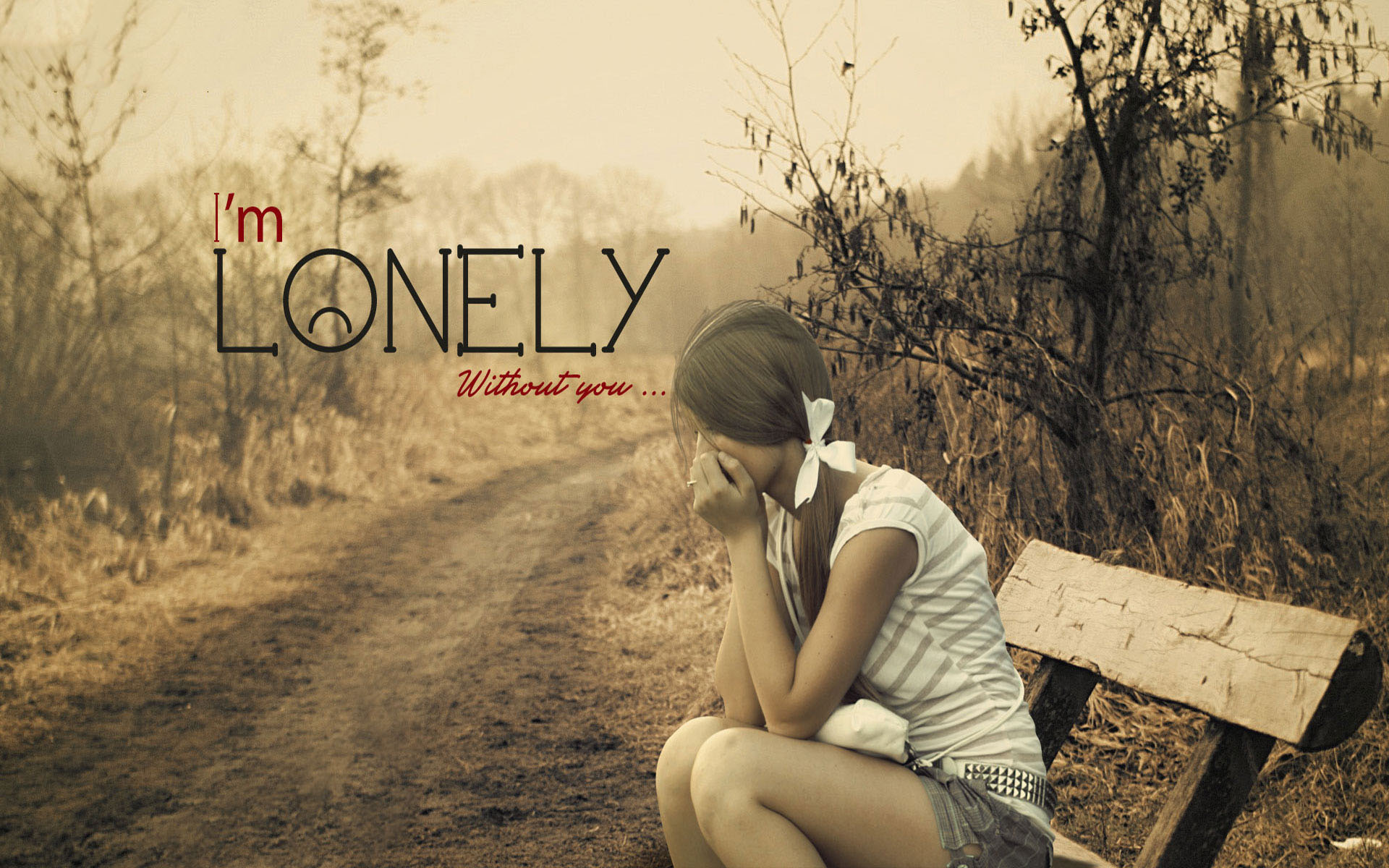 Sad girl with guitar lonely in jungle hd wallpapers rocks 1920x1200