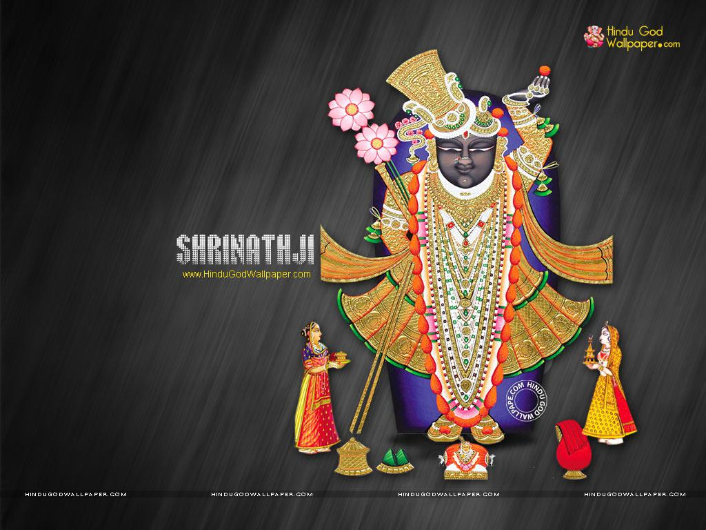 Mukharvind Shrinathji Wirh Colorful Background HD Wallpaper
