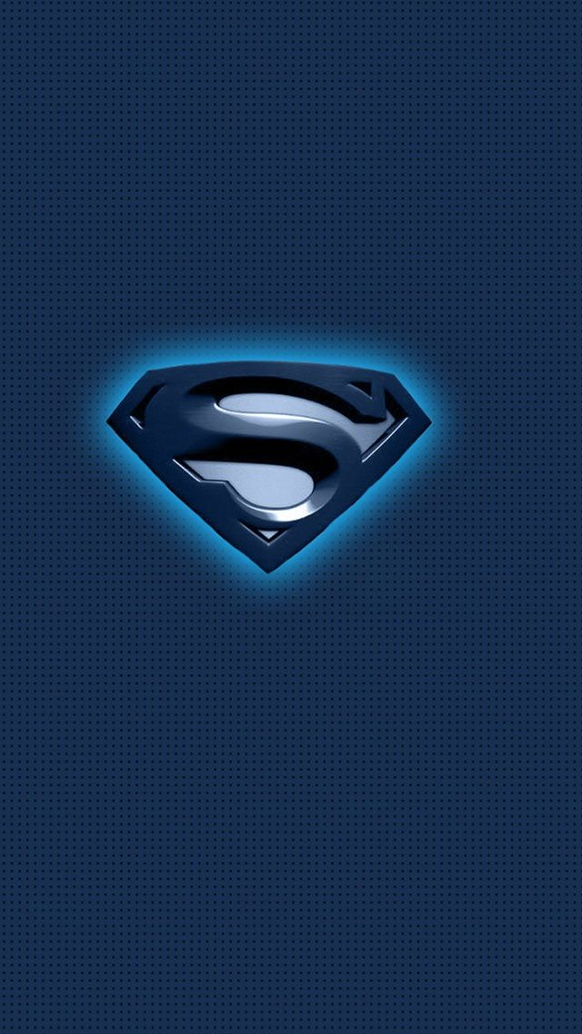 Superman Blue Logo iPhone s wallpaper Superman Pinterest