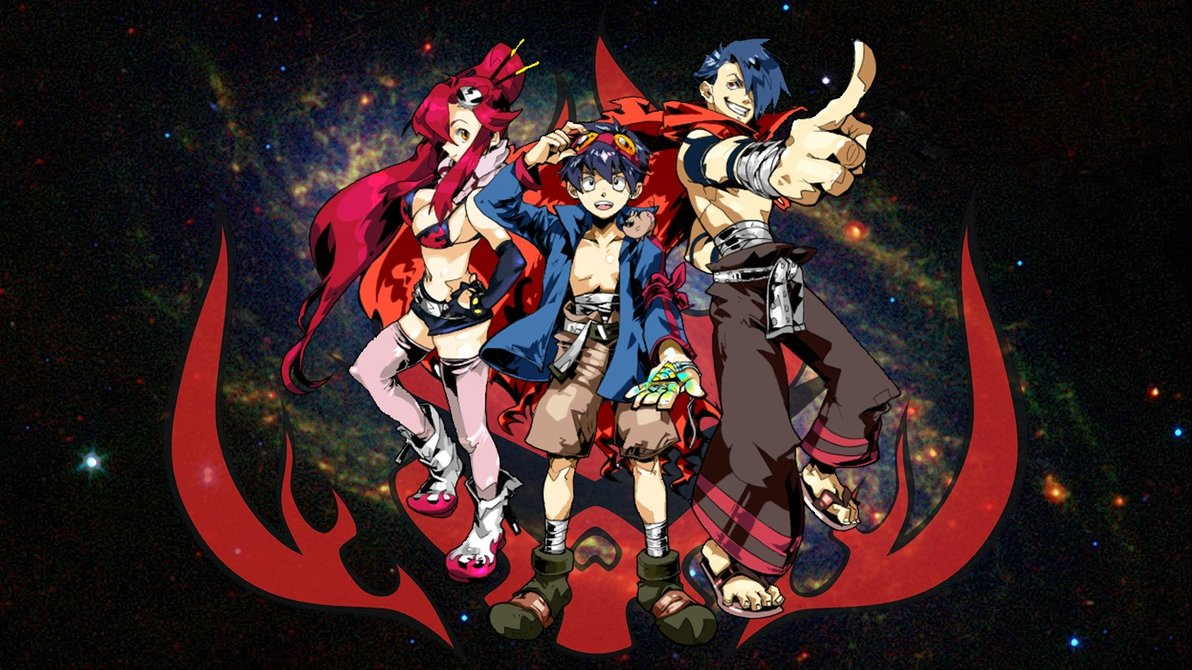 Gurren Lagann Wallpaper by meanhonkey on