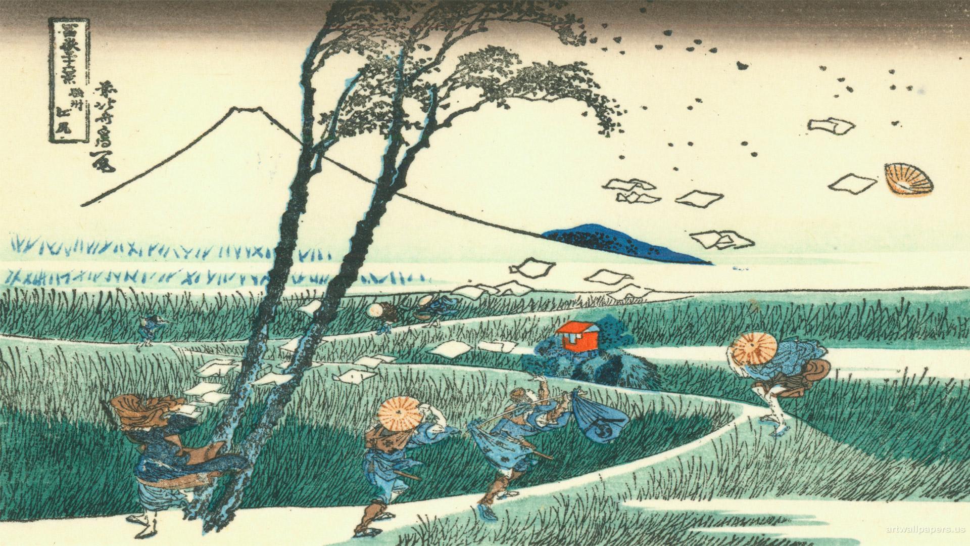 Madarame Bald The Great Wave Off Kanagawa Wallpaper Allwallpaper