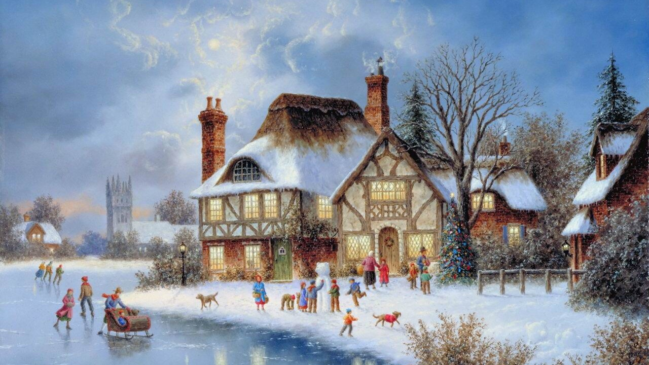 Thomas Kinkade Winter Wallpapers (28 Wallpapers) – Adorable Wallpapers