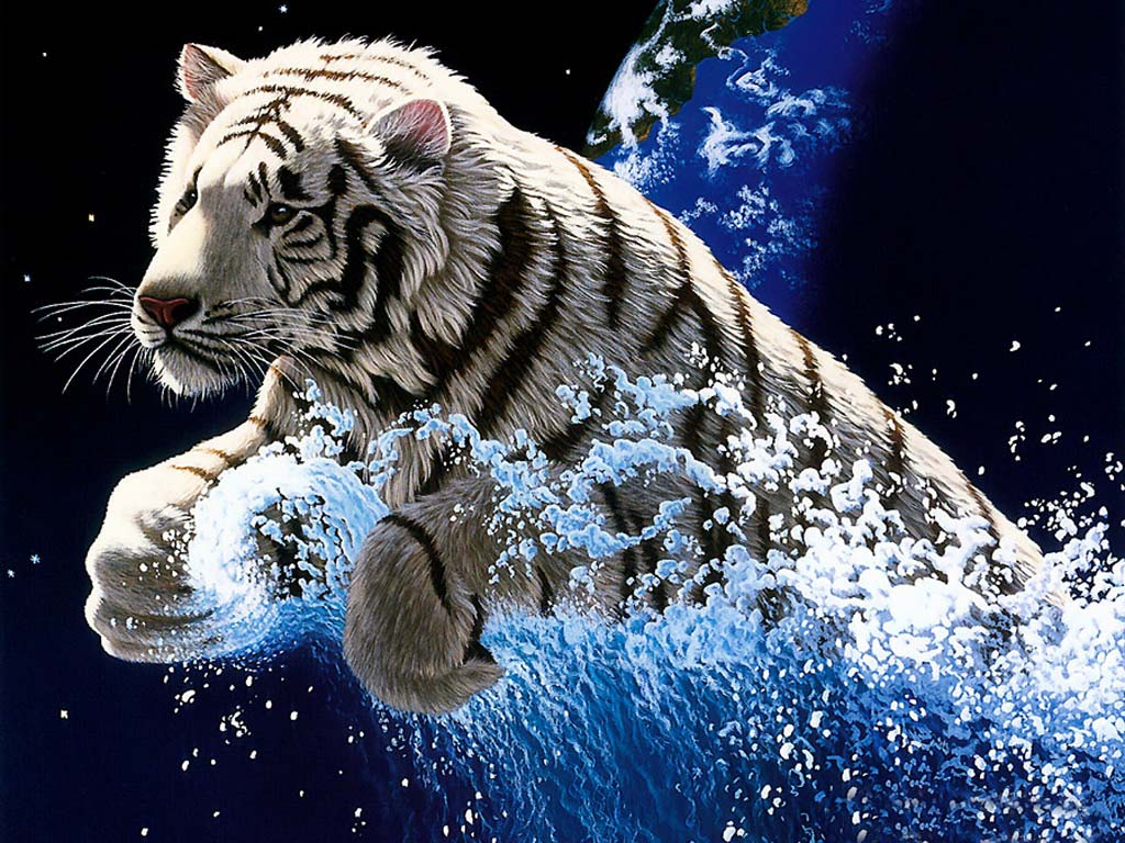 Tiger Wallpapers with Tiger Backgrounds  Tiger HD Wallpaper 1024x768