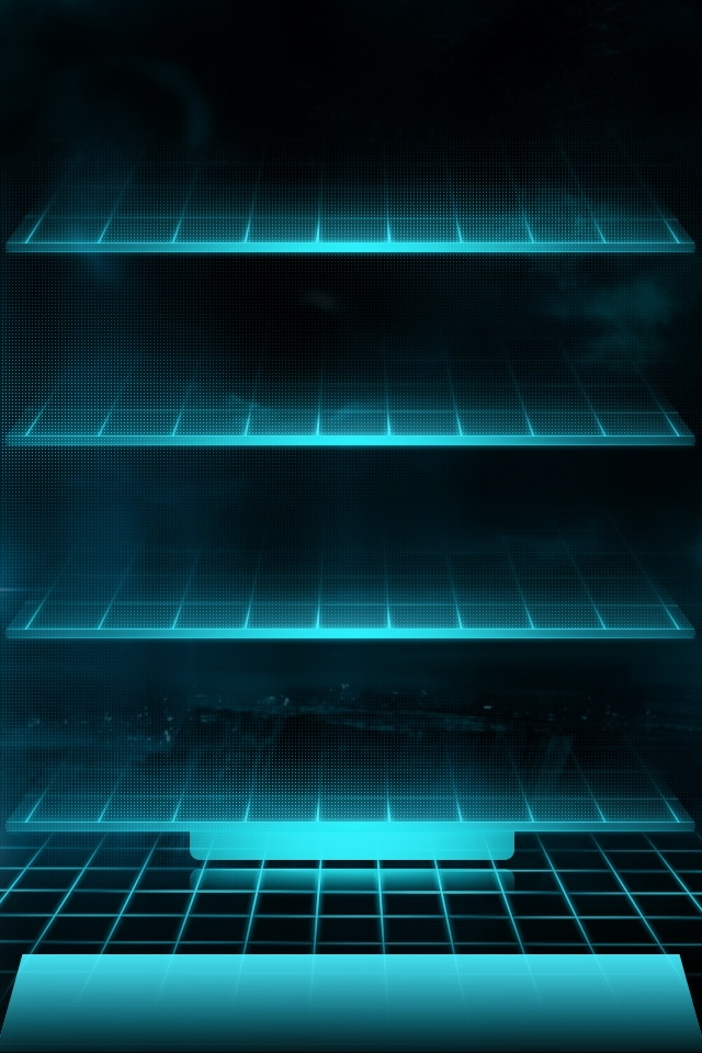 TRON Shelves iPhone Wallpaper / iPod Wallpaper HD  Free Download 640x960