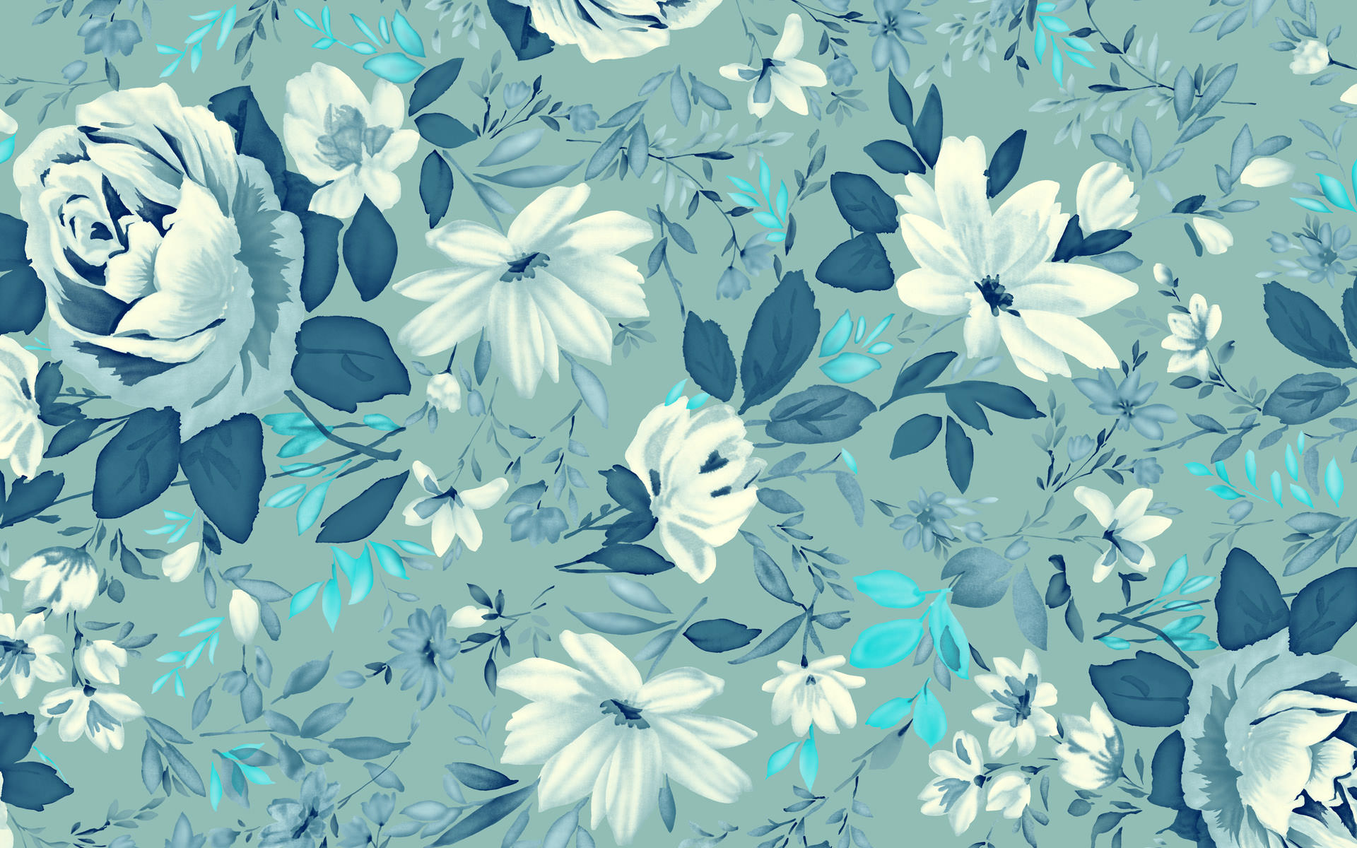 turquoise fabric, wallpaper  gift wrap  Spoonflower 1920x1200