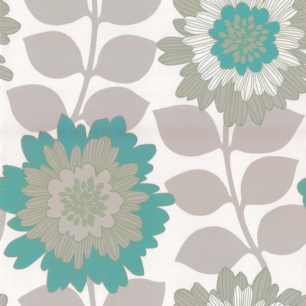 Blue Floral Wallpaper 1000x1000
