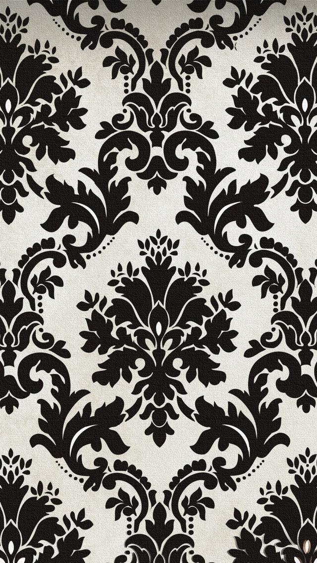 Black Pattern Photoshop Wallpaper 640x1136