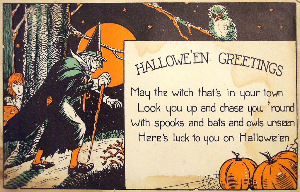 Прощенному воскресенью, открытка на хэллоуин на английском языке