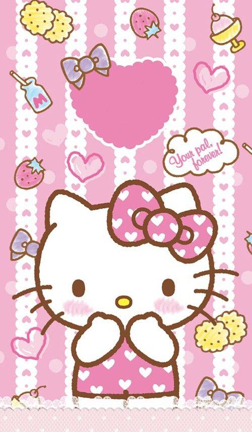 Hello Kitty Wallpaper Pink 500x855