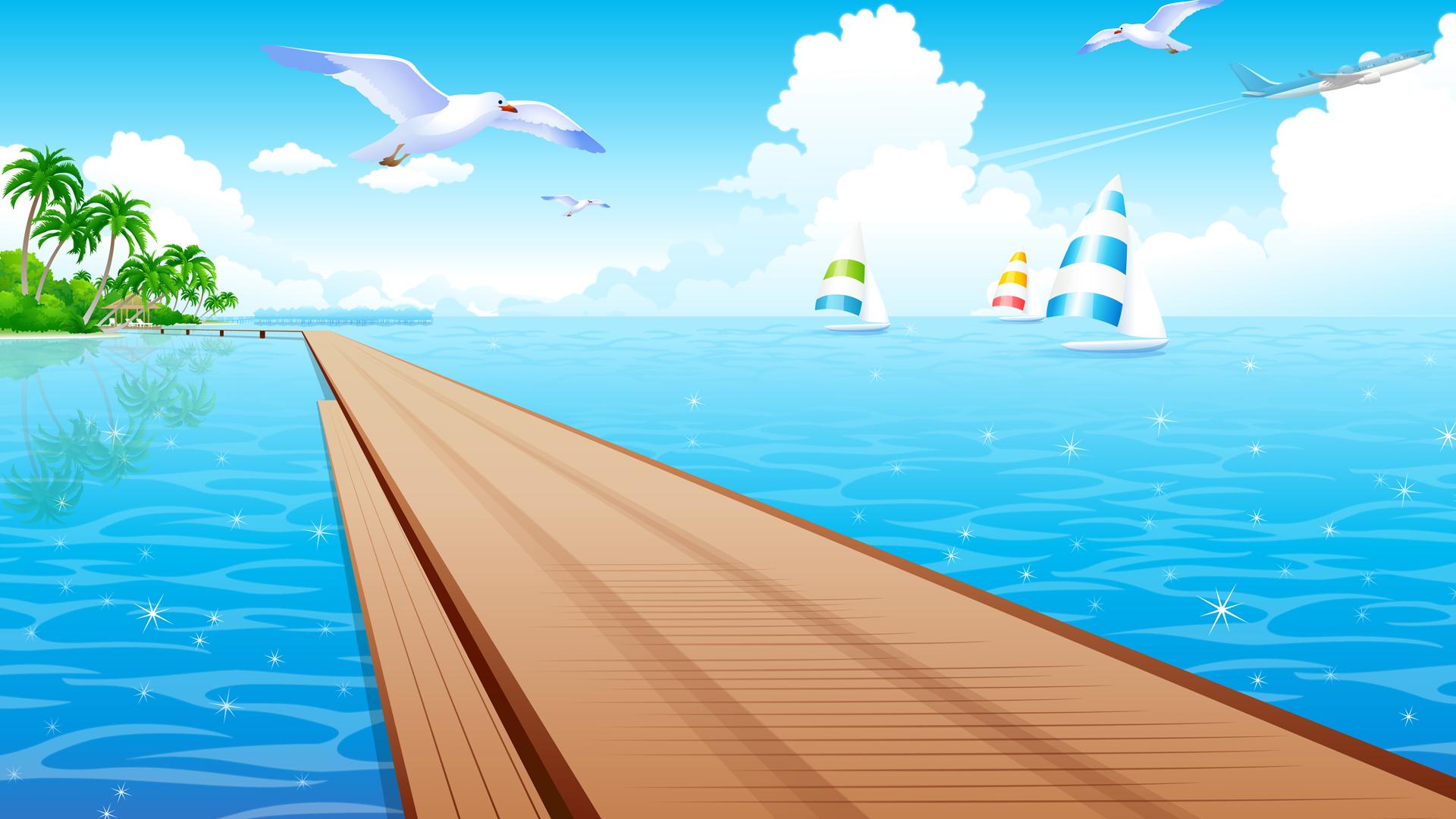 summer wallpaper swimming vector - photo #30