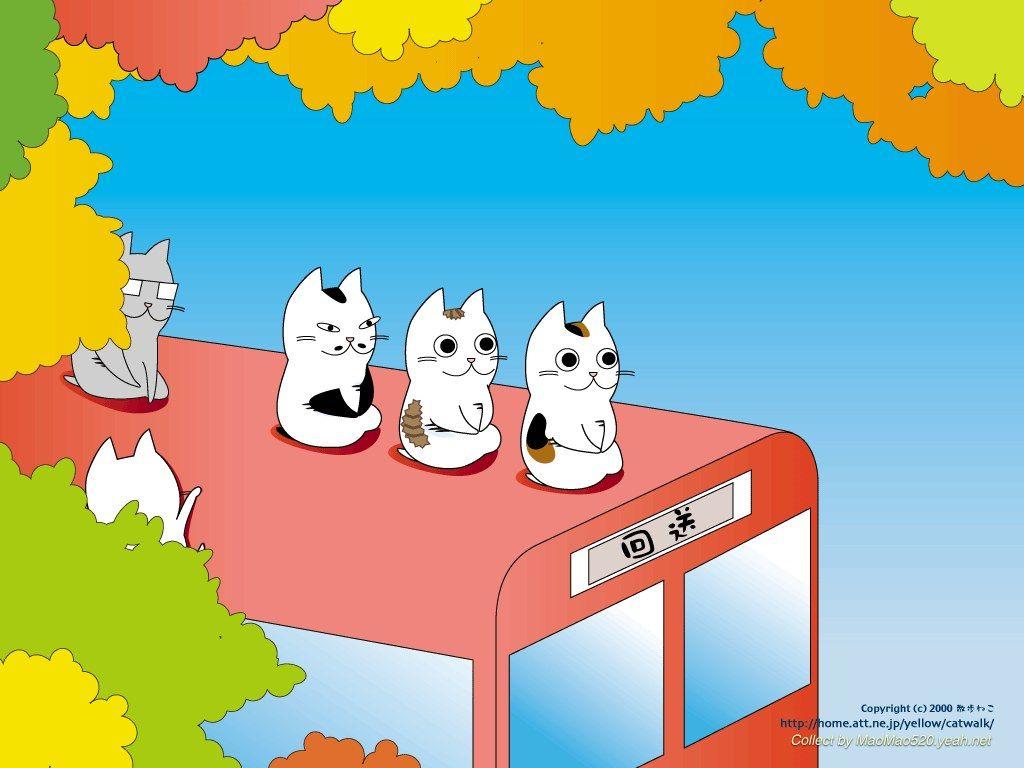 Cats Cartoon Vector Seamless Wallpaper Stock Vector 1024x768