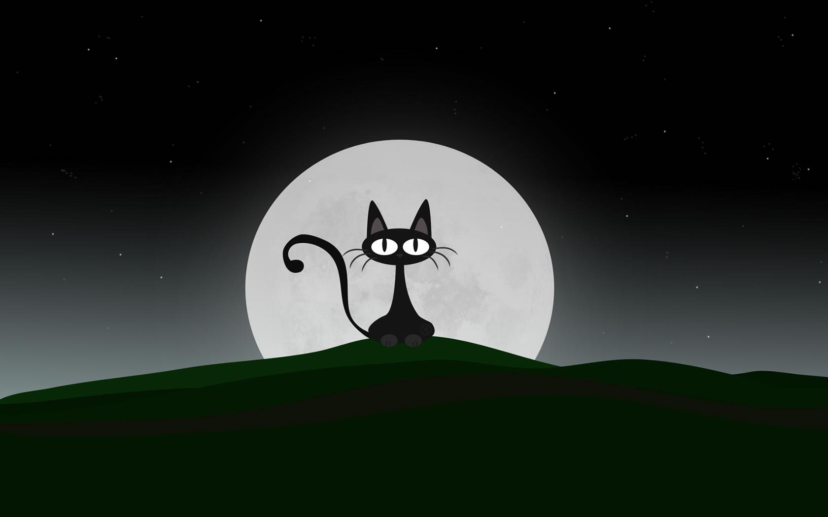 Cute Cartoon Cat Wallpaper 1680x1050