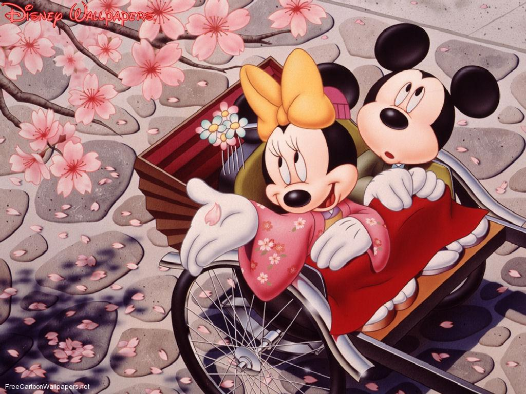 Mickey And Minnie Valentines Day Wallpaper 1024x768