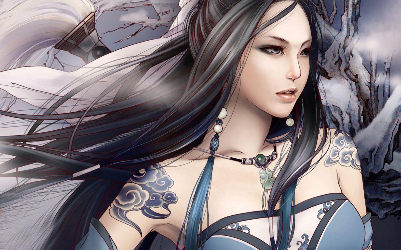 Beautiful animated girl wallpapers 1440x900