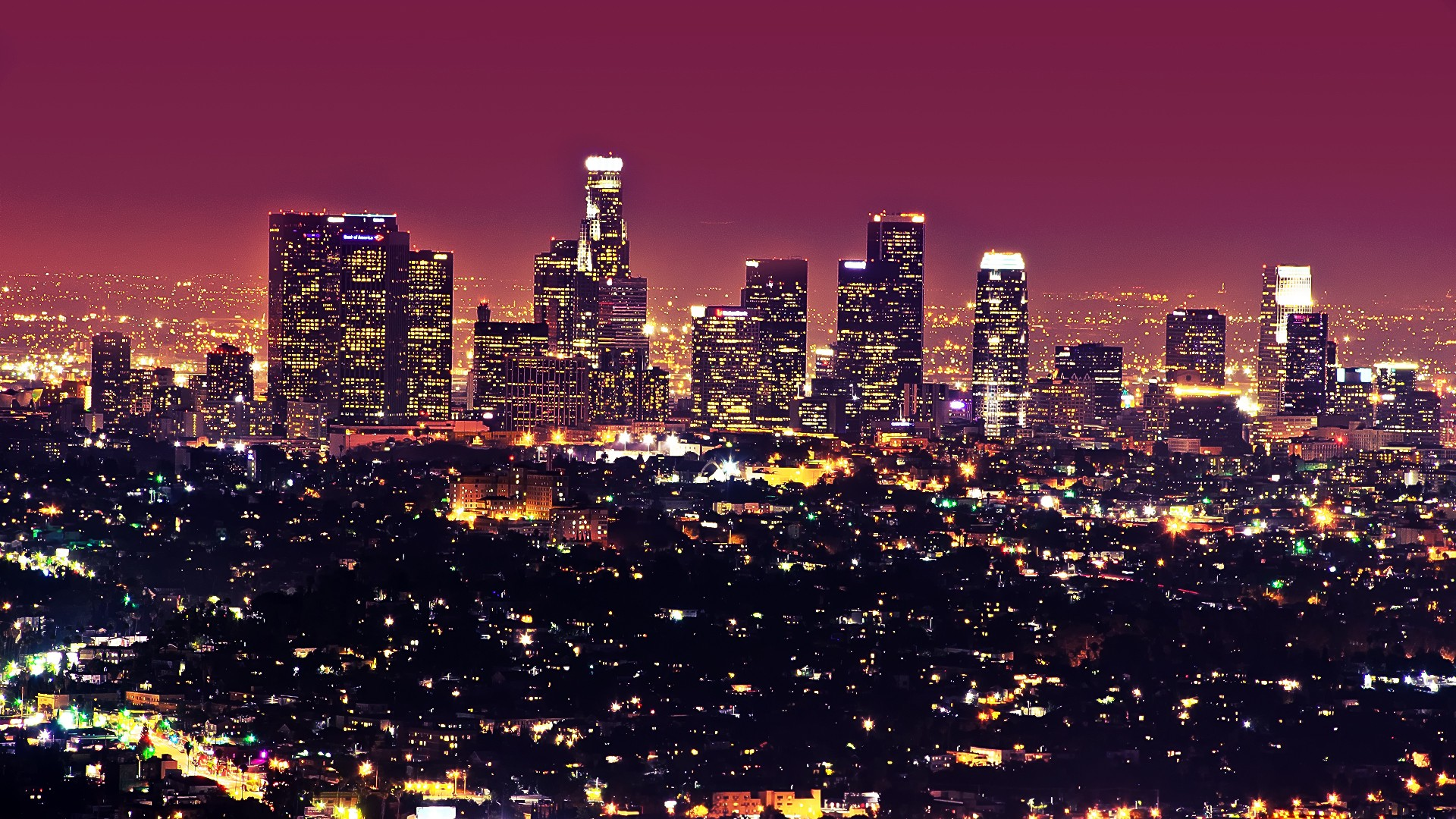 Tag Los Angeles Wallpaper For Bedroom Wallpapers High Definition - City lights wallpaper for bedroom