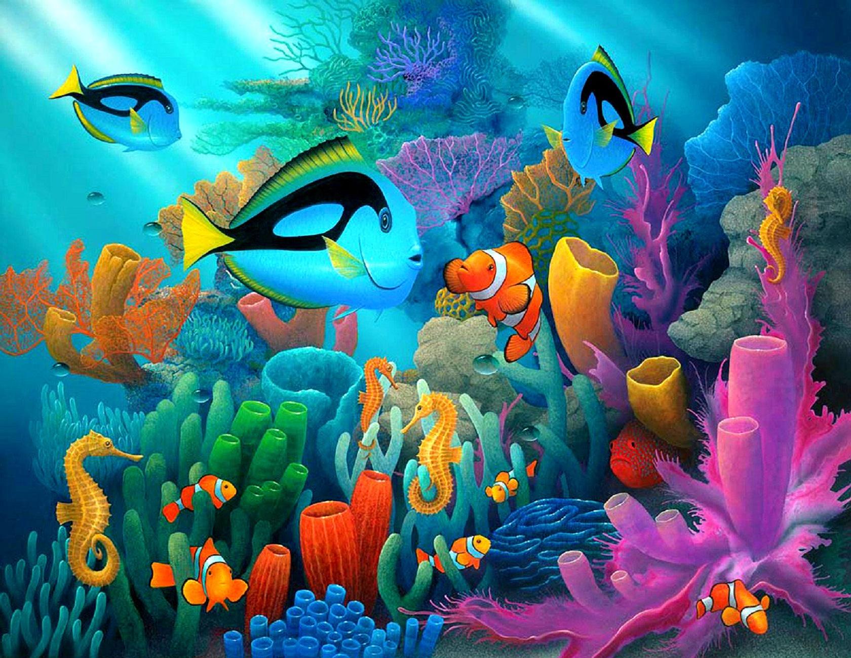 Картинки подводного мира для детей, учителю музыки