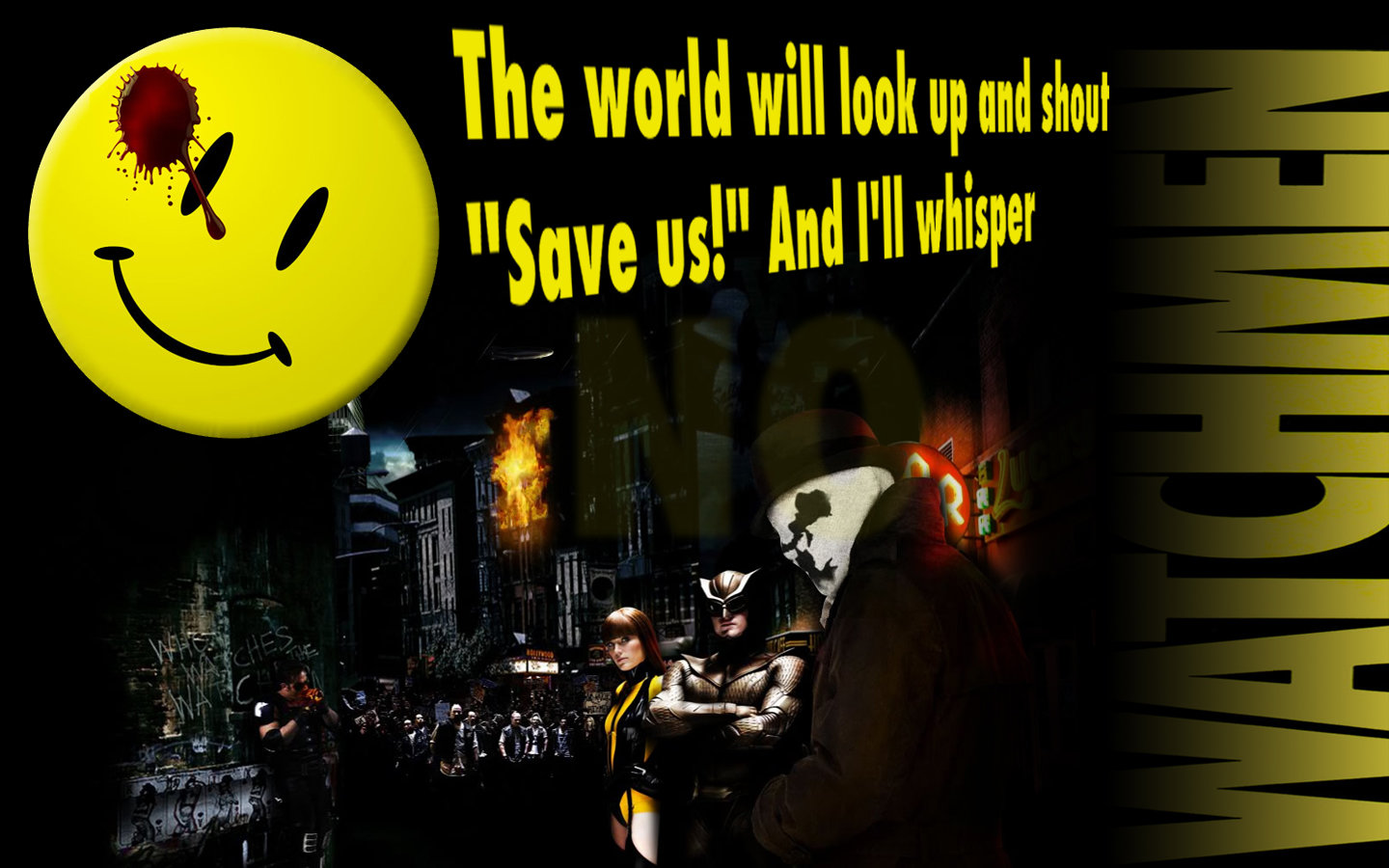 Watchmen Logo iPhone Wallpaper HD Watchmen Rorschach Wallpaper   1440x900