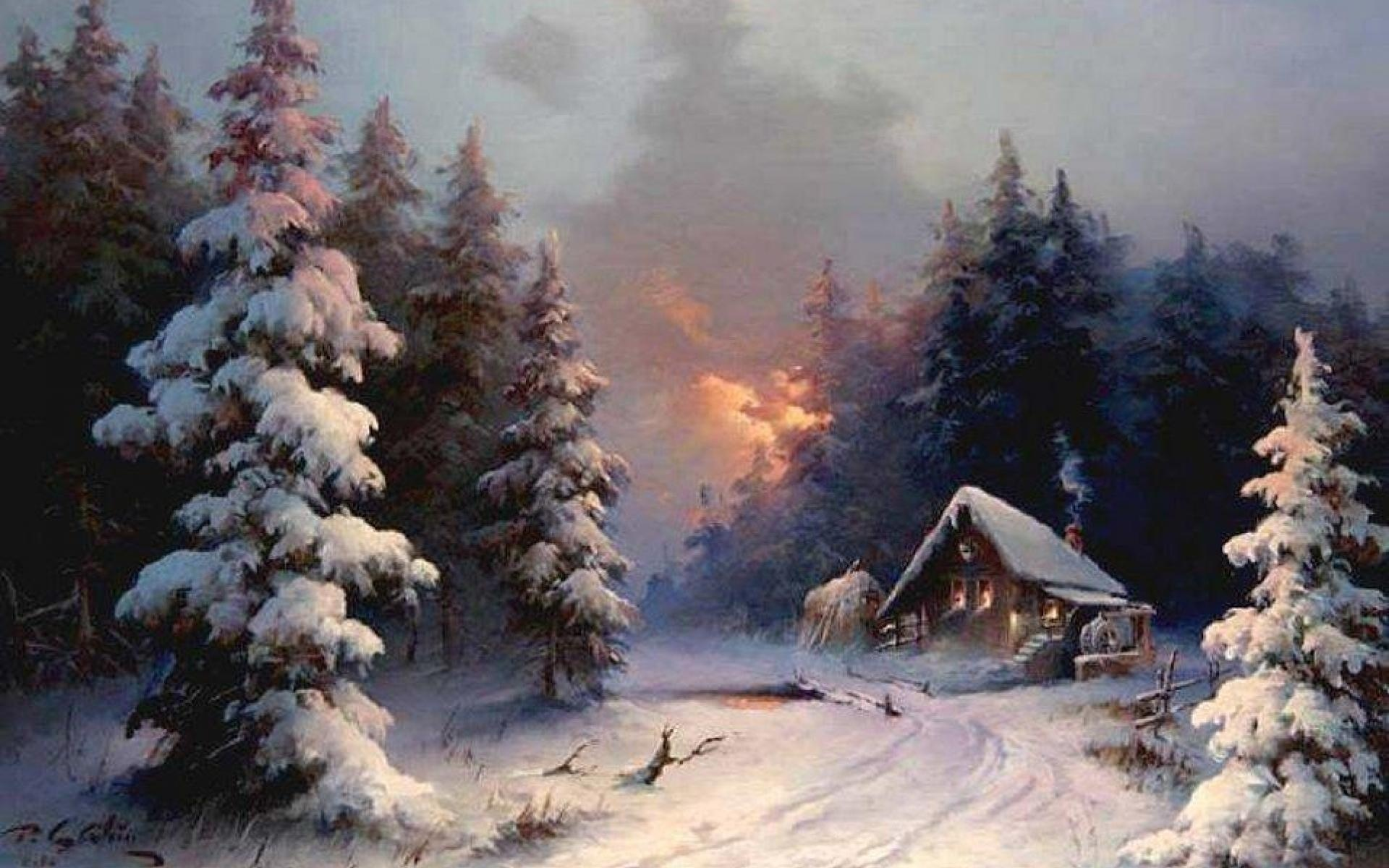 Winter Cabin Wallpapers 46 Wallpapers Adorable Wallpapers