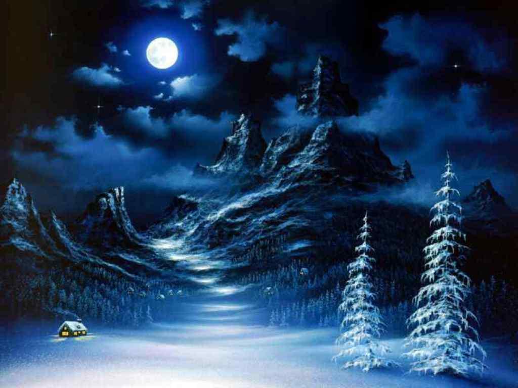 Free winter scene wallpaper 1024x768 voltagebd Choice Image