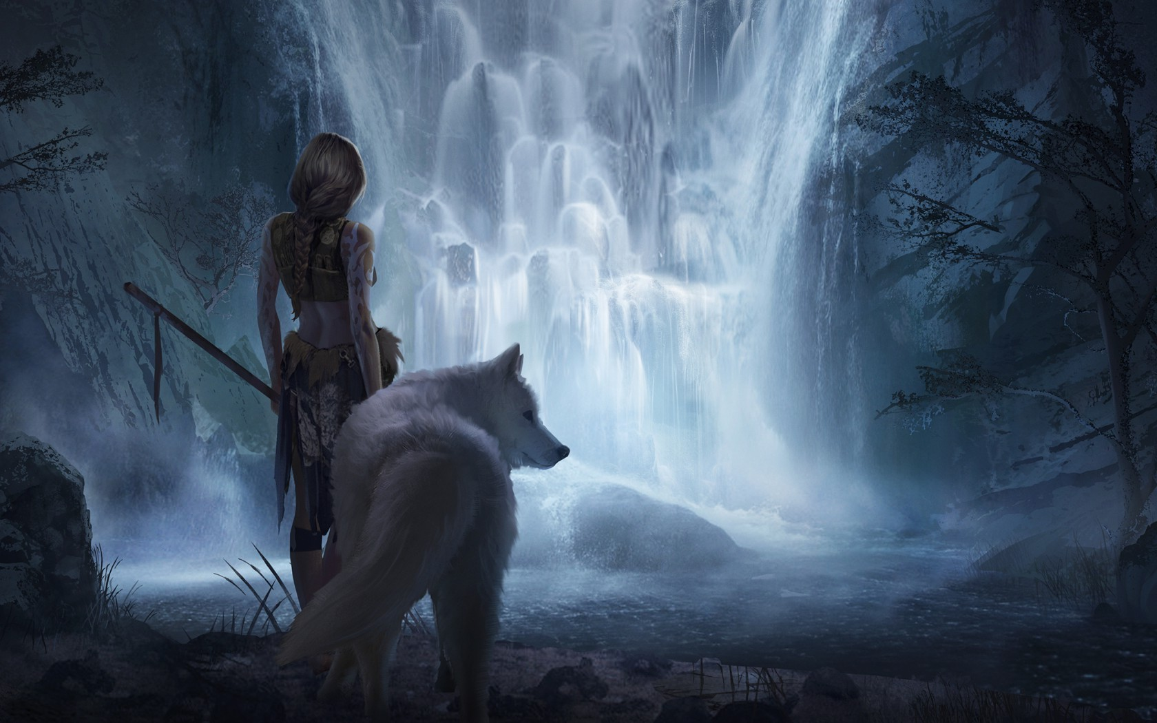 W Lfe Fantasy Wallpaper Desktop Hd U2022 Rh Greenmamahk Store Magecloud Net HD Wolf Drawings Spirit