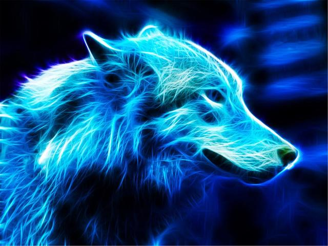 Group Of Electric Wolf Wallpaper