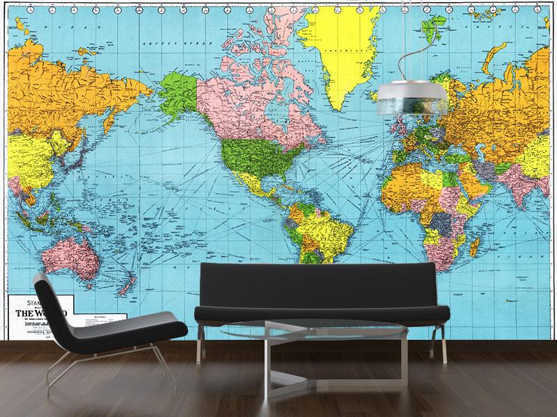 World Map Wallpaper Mural (20 Wallpapers)