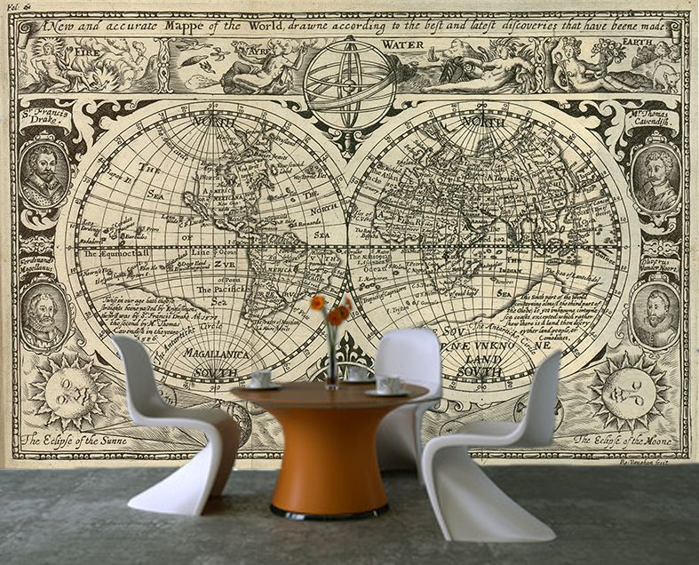 World Map Wallpaper Mural 22 Wallpapers Adorable Wallpapers