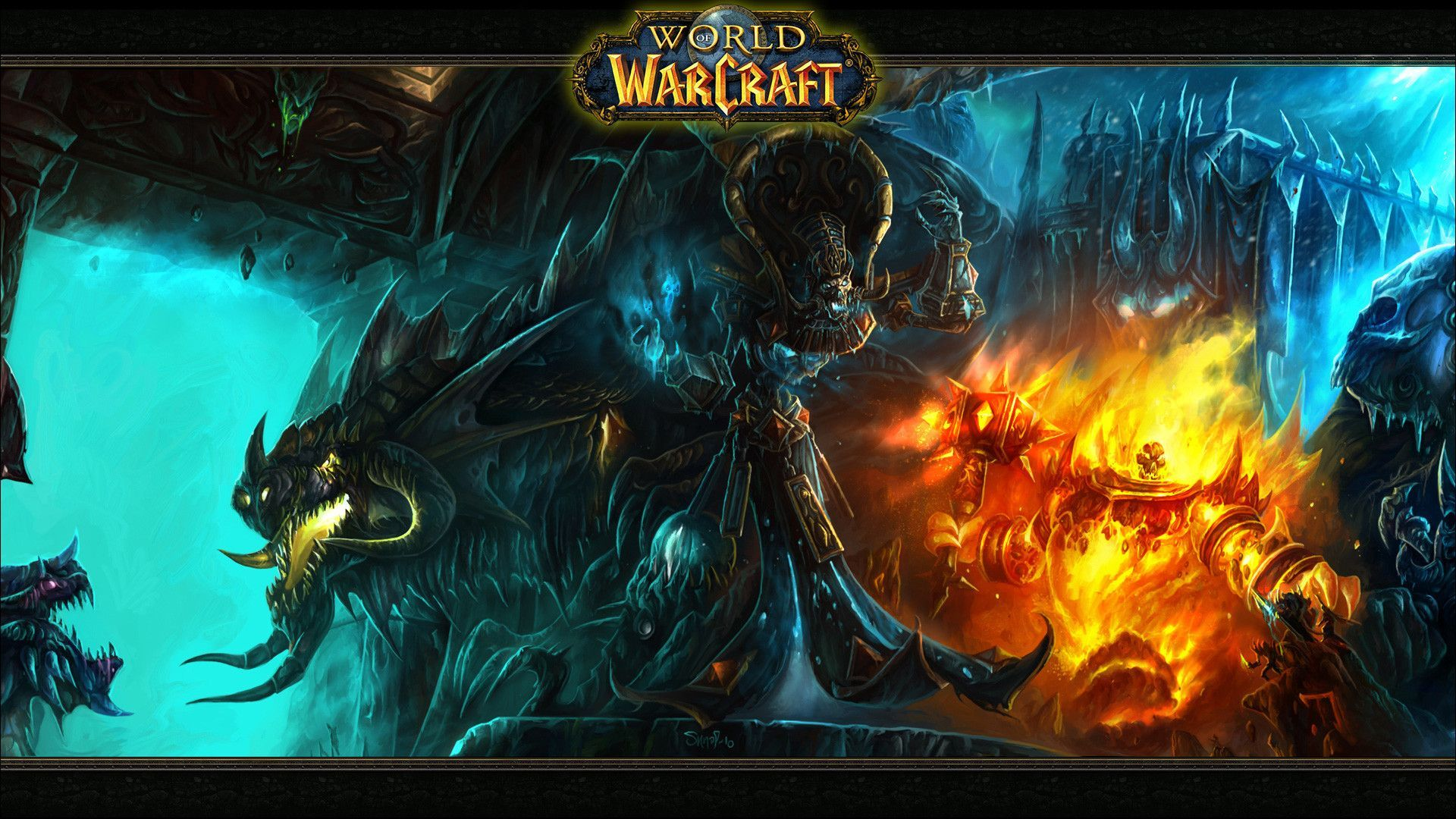 Undead Warlock World Of Warcraft Wallpaper 1920x1080