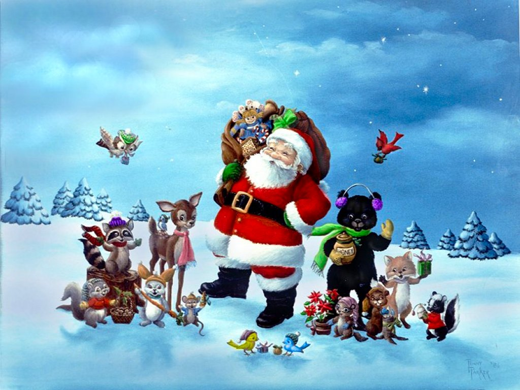 Cute Christmas Desktop Backgrounds Wallpaper 1024x768