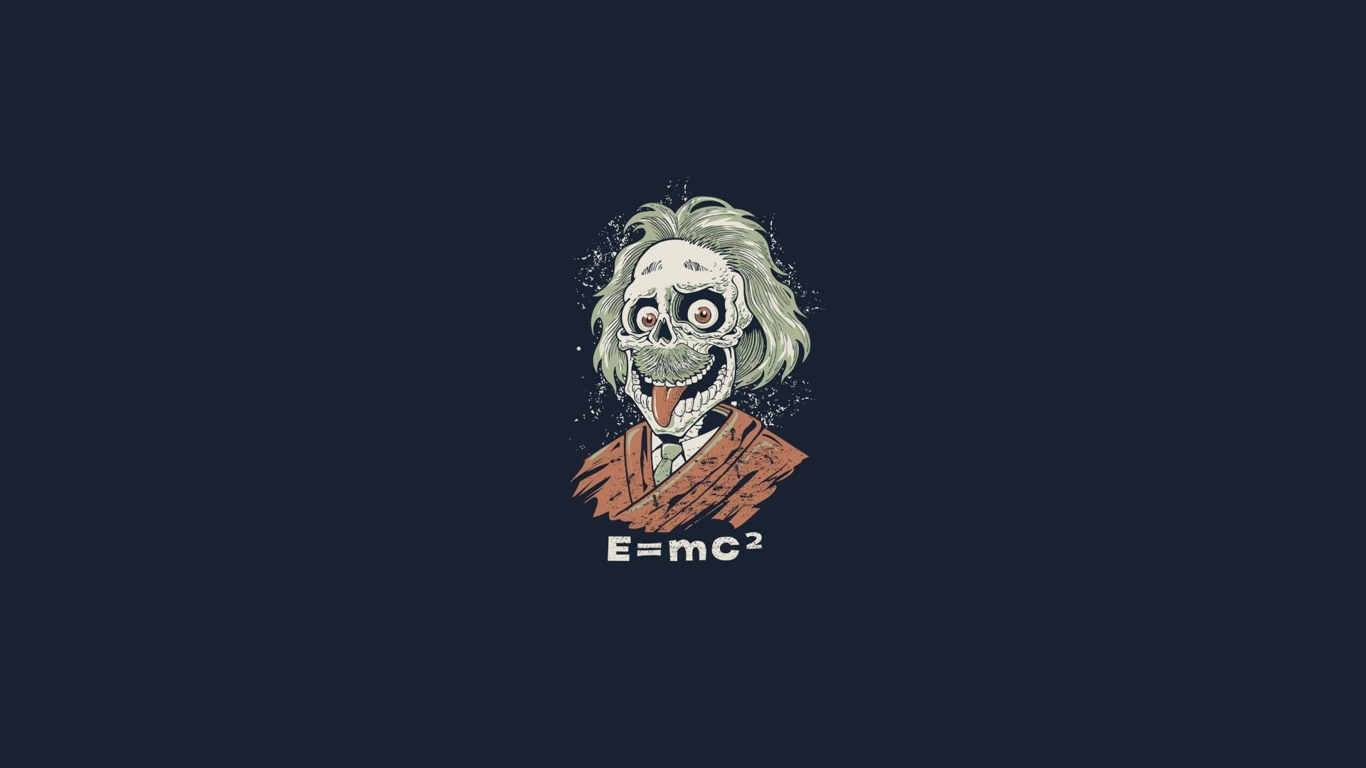 Albert Einstein Funny Zombie Hd Wallpapers Exclusive 1920x1080